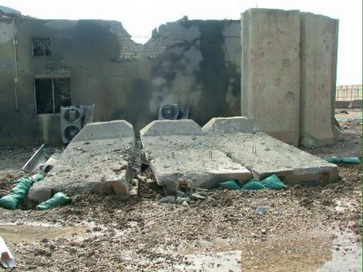 مخيم ليبرتي بعد القصف الصاروخي
