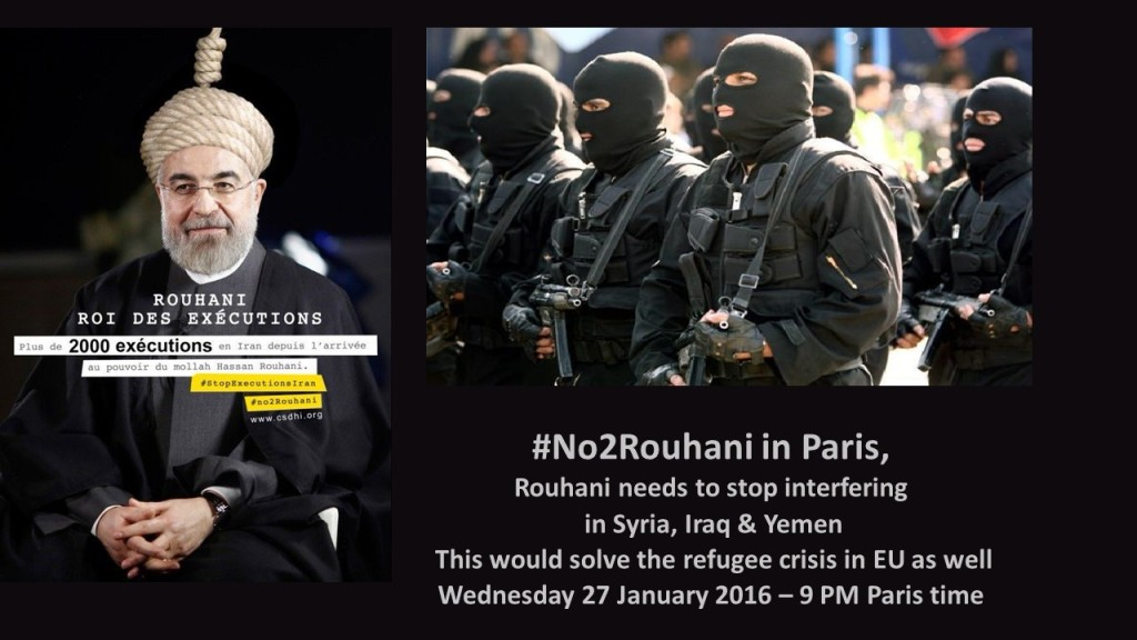 #No2Rouhani Wed27Jan9PMParistime1