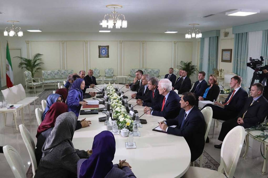 Four US senators meet with Maryam Rajavi in Tirana, Albania