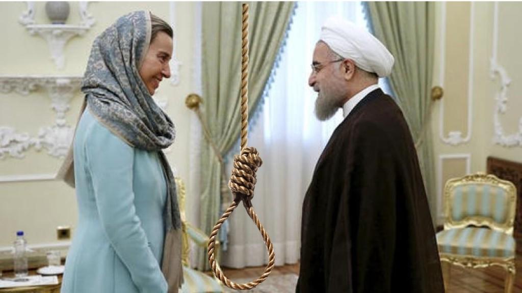 #NO2Rouhani Rope execution Mogherini