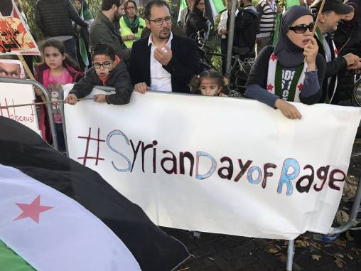 #SyrianDayOfRage Rally in The Netherlands مظاهرة #يوم_الغضب_السوري في هولندا
